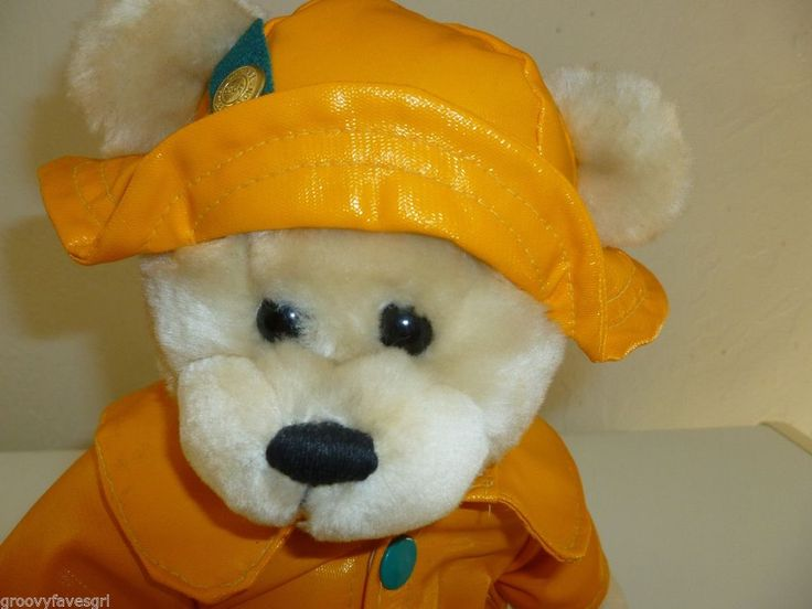 Pickford Brass Button Bear Teddy Harper Raincoat Hat Health Good Fortune