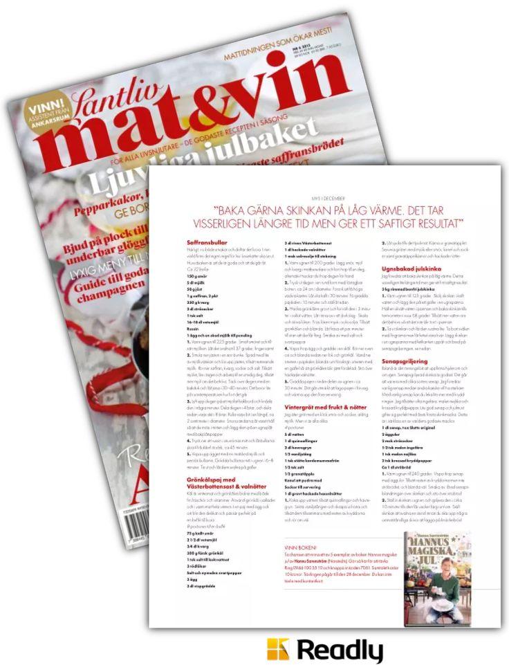 Tips om Lantliv Mat & Vin 2 november 2015 sidan 71