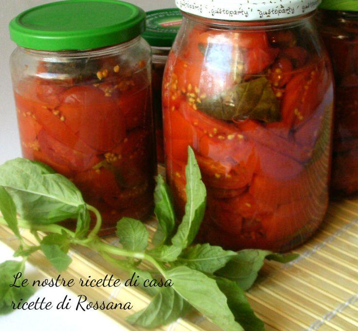 Pomodori in barattolo, ricetta conserve