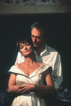 The Bridges of Madison County.  This is the movie that made me totally fall in love with Meryl Streep! Book is so much better, though.