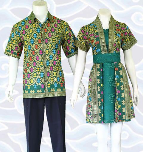 kode sm349 dress batik sarimbit couple modern hijau selengkapnya di http://senandung.net/baju-batik-sarimbit-couple-modern/