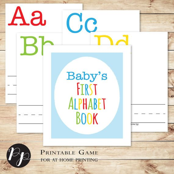 This interactive game is perfect for a baby shower! Included are 29 (8.5x11) PDF pages - one cover page, 26 letters, instructions page, and a word