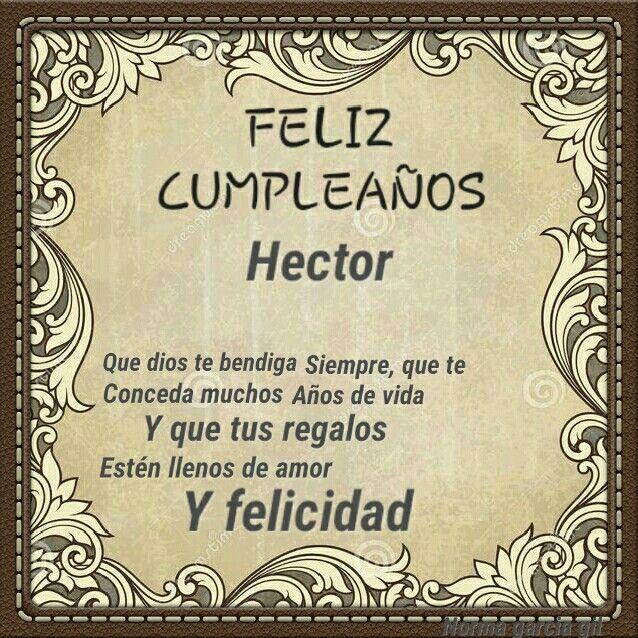 Feliz cumpleaños hector | FELIZ CUMPLEAÑOS TARGETAS | Pinterest