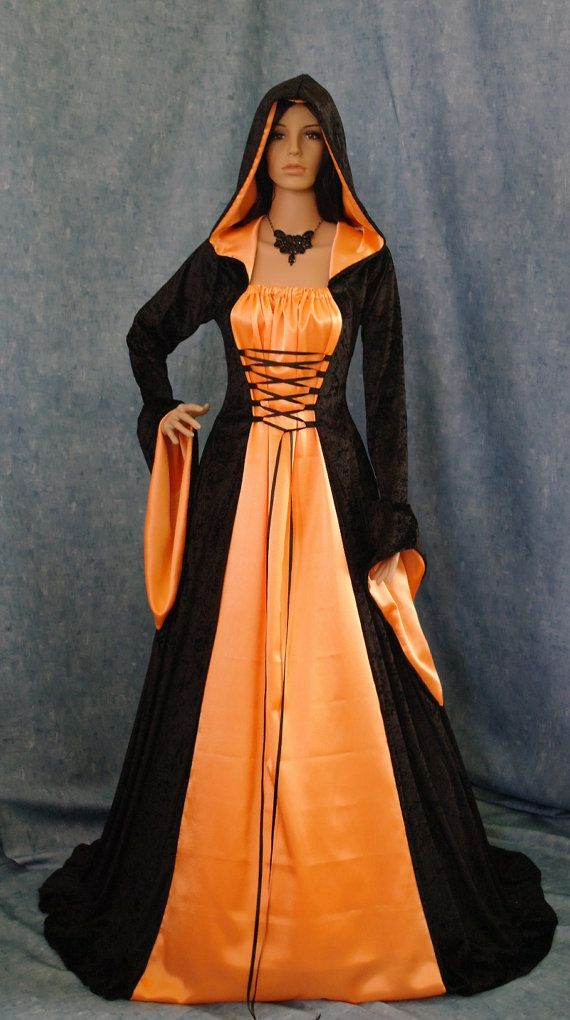 Gothic medieval renaissance dress by camelotcostumes 199 00hoods