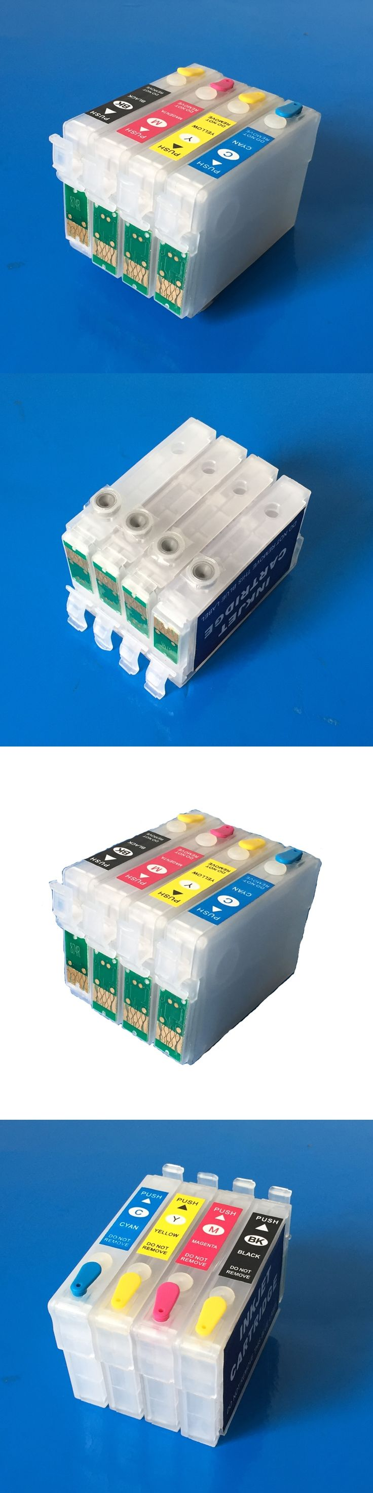 Refillable ink cartridges T1281-T1284 empty for Epson SX125  SX120  SX130 S22 SX230 SX235W SX420W SX425W SX430W  With ARC  chips