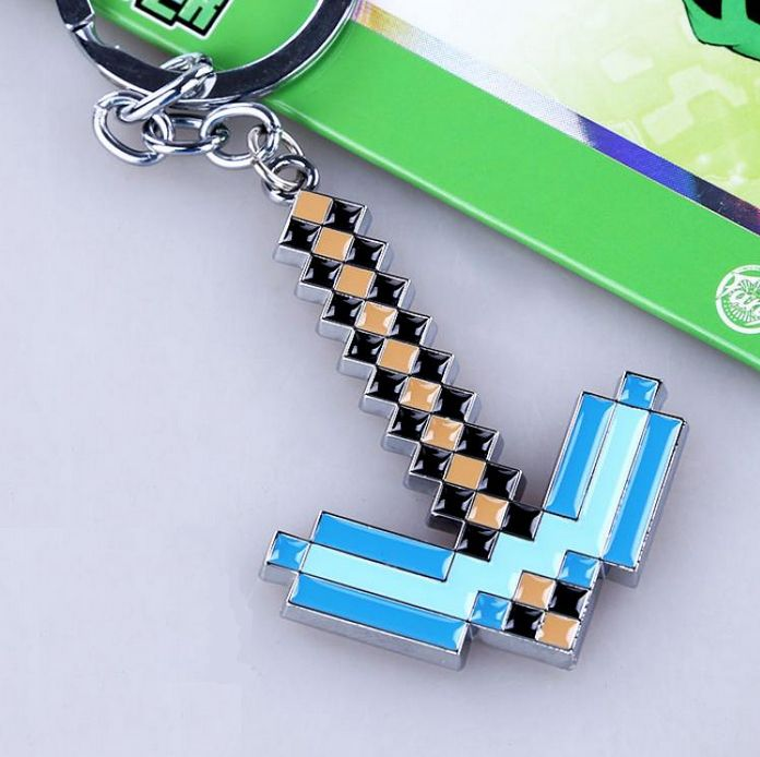 Minecraft Diamond Pick Key Ring