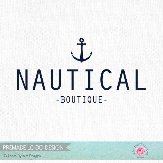 Vorgefertigten Anker-Fotografie-Logo und Wasserzeichen nautische Logo - nautische Kleidung Boutique - nautische Fotografie Logo - maskulin Anker-165