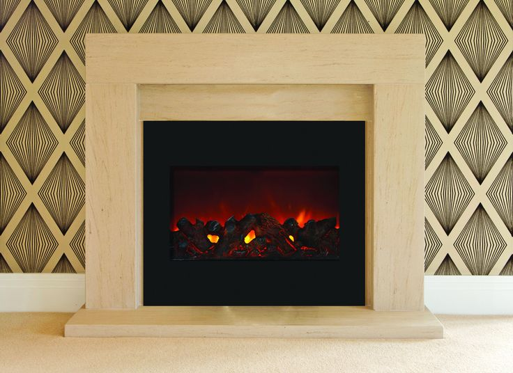 "30"" Zero Clearance Fireplace with 32"" x 26"" Black Glass Surround"