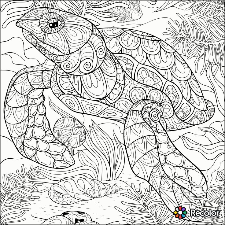 33 best Turtles images on Pinterest Sea turtles, Turtles and Sea - best of under the sea coral coloring pages