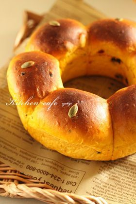 「かぼちゃのリングパン」uzukaji | お菓子・パンのレシピや作り方【corecle*コレクル】
