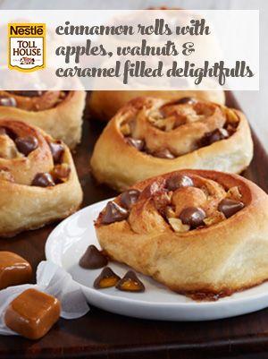 Cinnamon Rolls with Apples, Walnuts & Caramel Filled DelightFulls ...
