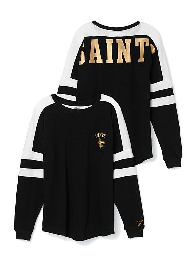 New Orleans Saints Pocket Varsity Crew PINK  . i really love it! <3