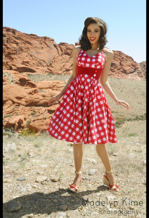 Want- Need- Lust Zooey Dress in Picnic Print: Red And White, Red Waist, Picnics Prints, Pinup Girls, Zooey Dresses, Girls Clothing, White Gingham, Pinup Couture, Halter Dresses