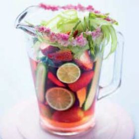 Sparkling lime-infused sangria