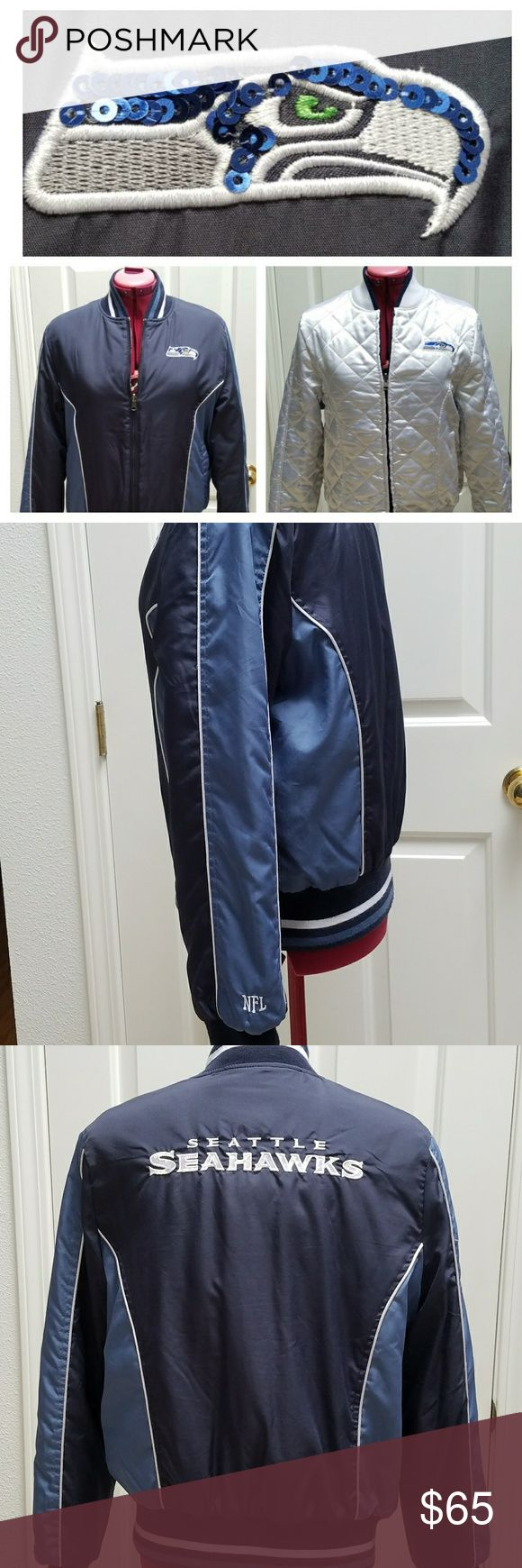 NEW LISTING! RARE Reversible NFL Seahawks Jacket It breaks my heart to let go of this amazing jacket. I've only worn it during the playoffs. REASONABLE OFFERS ACCEPTED. NO LOW BALLING PLEASE. NO TRADES PLEASE. NFL Jackets & Coats