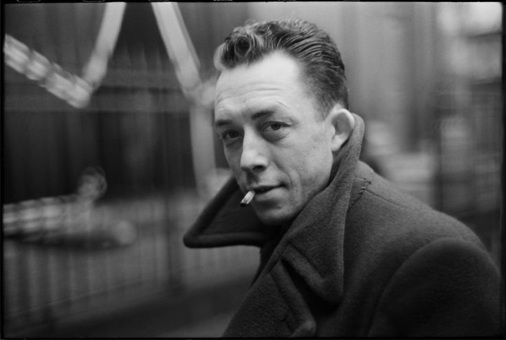 Albert Camus by Henri Cartier-Bresson 1944. Paris.