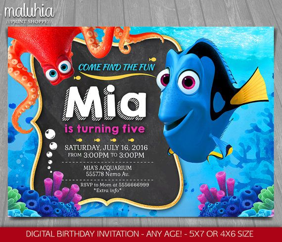 Finding Nemo Baby Shower Invites as awesome invitation ideas