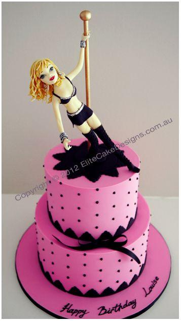 Pole Dancer Stripper Birthday Cake Novelty 21st