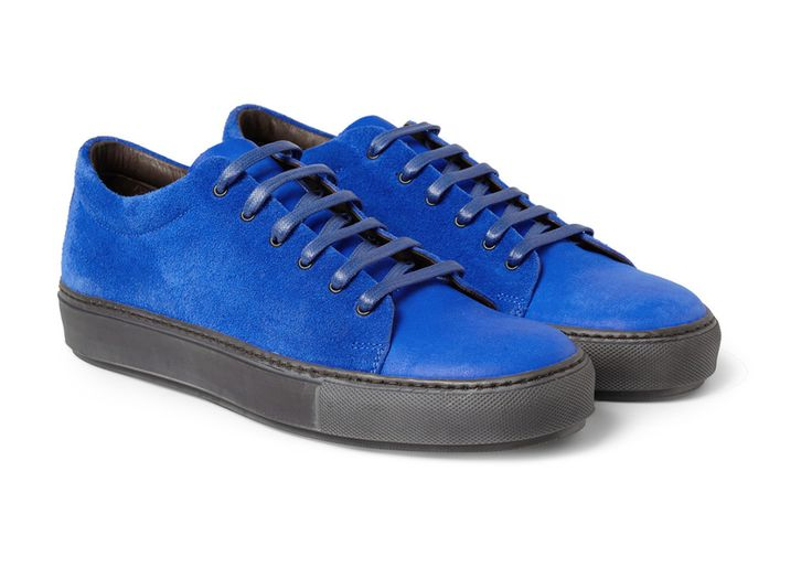 Acne blue suede shoe