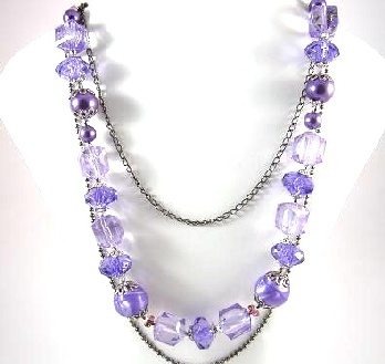 Lovely Purple Beaded Necklace