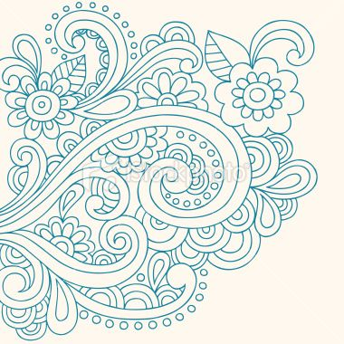 Free Paisley Designs   Henna Tattoo Paisley Doodle Vector Royalty Free Stock Vector Art ...