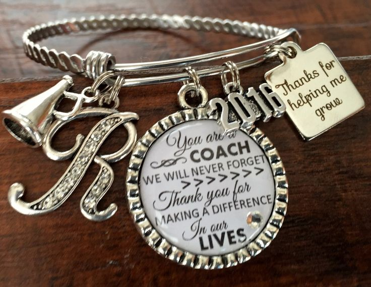 Coach gift, Team gift, CHEER coach, volleyball coach, soccer coach, Softball coach, Sports BRACELET, coach quote, inspirational by buttonit on Etsy