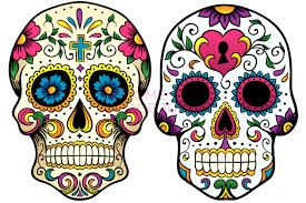 candy skull outline template - Google Search