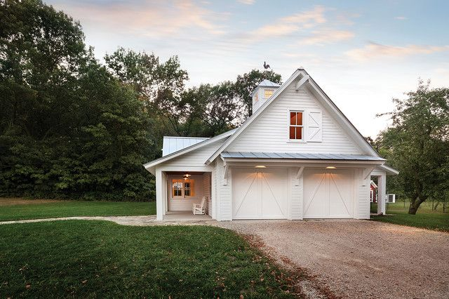 Outstanding Two-Building Farmhouse w/ Porch & Garages (10 Pictures) | Metal Building Homes