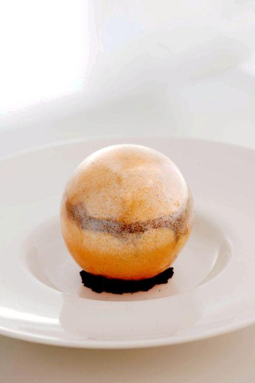 Remi Talbot / golden sphere. caramelised banana, crème brulée, caramel feuilletine