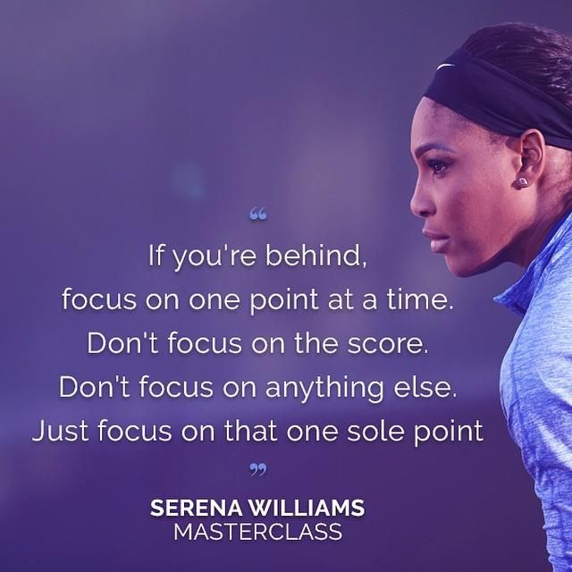 5/14/15 #TennisGemsOfWisdom .... Via #SerenaWilliams: I'm teaching tennis! Think you can handle being my student? Check out the link in my profile to take my @Masterclass #ultm8swfans
