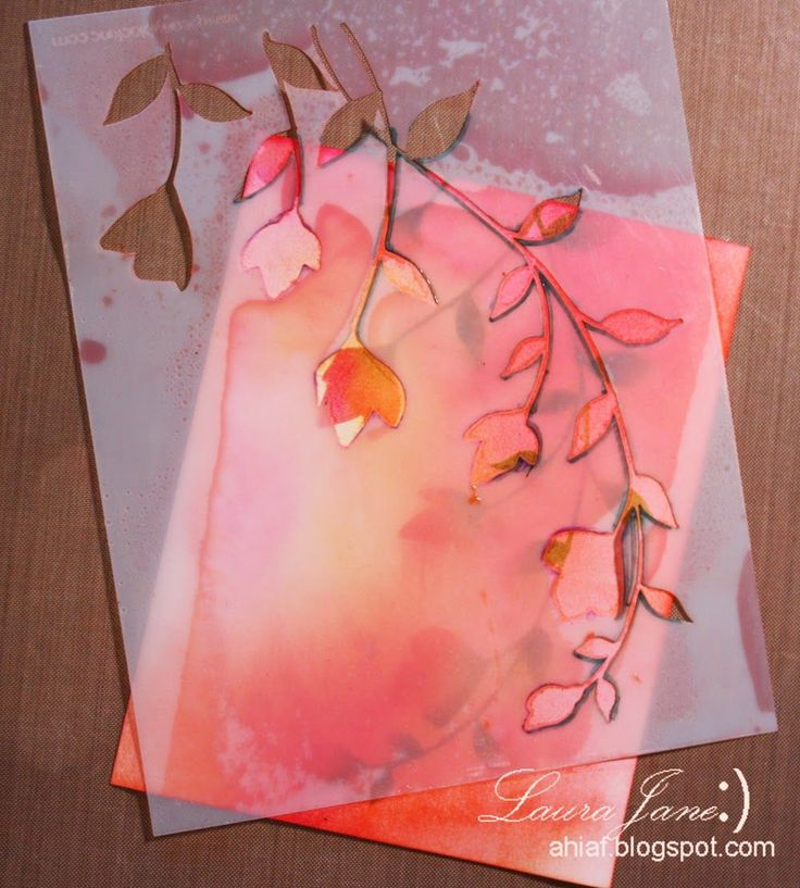 After-Hours Ink & Flowers: Mixed media Picture tutorial using Penny Black Stencil Promenade