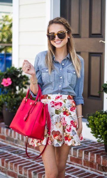 Look Primavera: Saia Floral