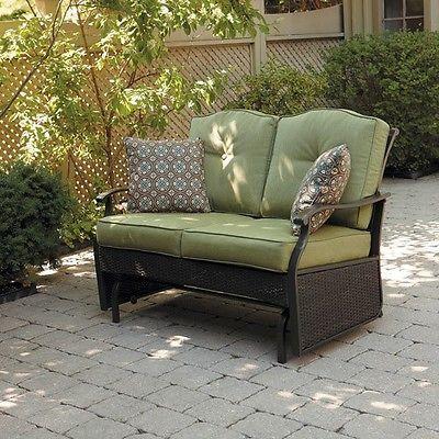 Outdoor Glider Bench Seat Patio Swing Deck Furniture Home Yard Decor Cushion  Dog
