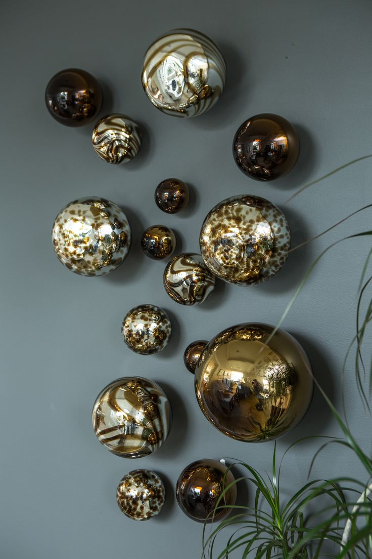 Silver Plated With Chocolate Glass Spheres And Made From Recycled Materials Next Level Decor