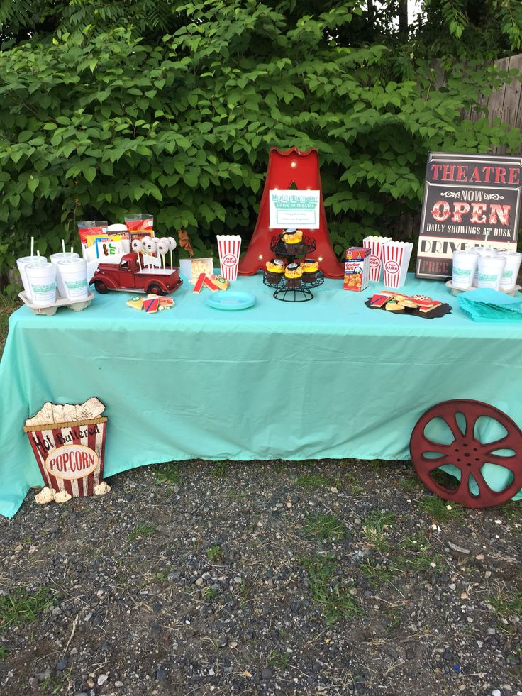Drive-in Movie Theme Birthday Party | Drive-in Themed