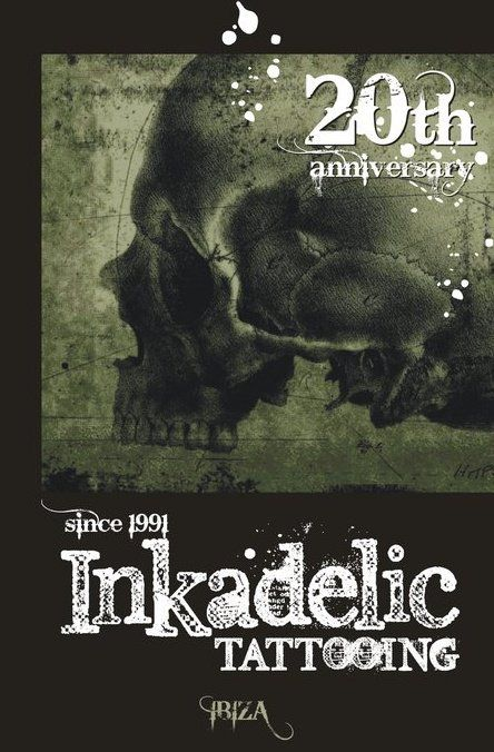 Flyer 4 20 years of Inkadelic studio, Ibiza, ES