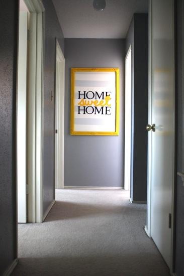 Pretty Artwork For The Hallway !: Diy Art, Add Vinyl, Art Ideas, Old Frames, Vinyl Lettering, Sweet Home, Easy Diy, Paint Stripes