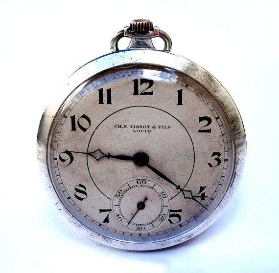 Vintage Reloj De Bolsillo Suizo Ch.F. TISSOT & por shopvintage1