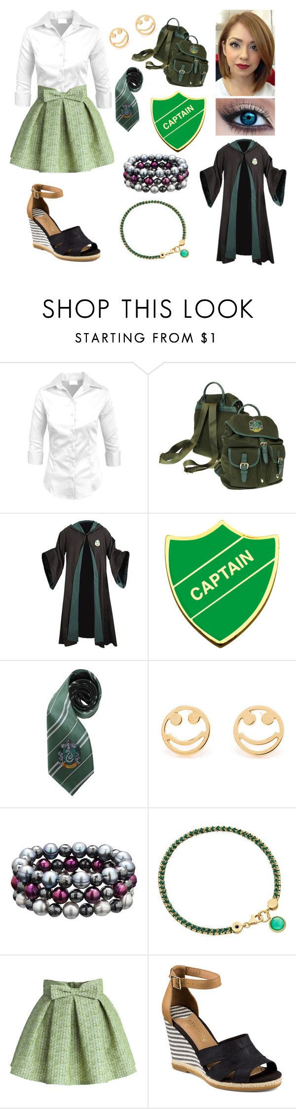 """Emily at Hogwarts"" by swimchick37 ❤ liked on Polyvore featuring Elope, Rosa de la Cruz, Honora, Astley Clarke, Chicwish and Sperry"