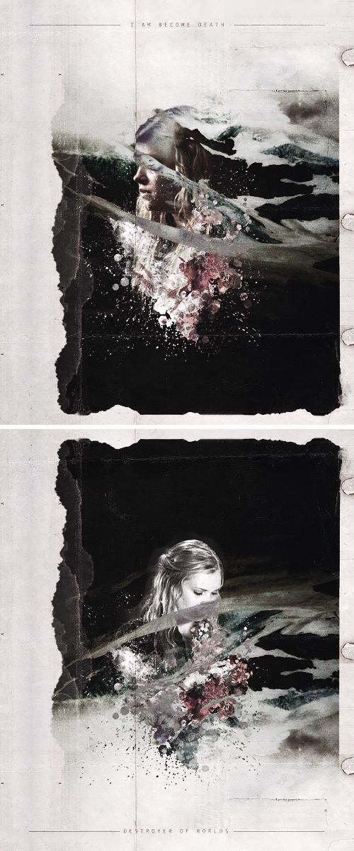 Clarke Griffin: I am become death, the shatterer of worlds. #the100