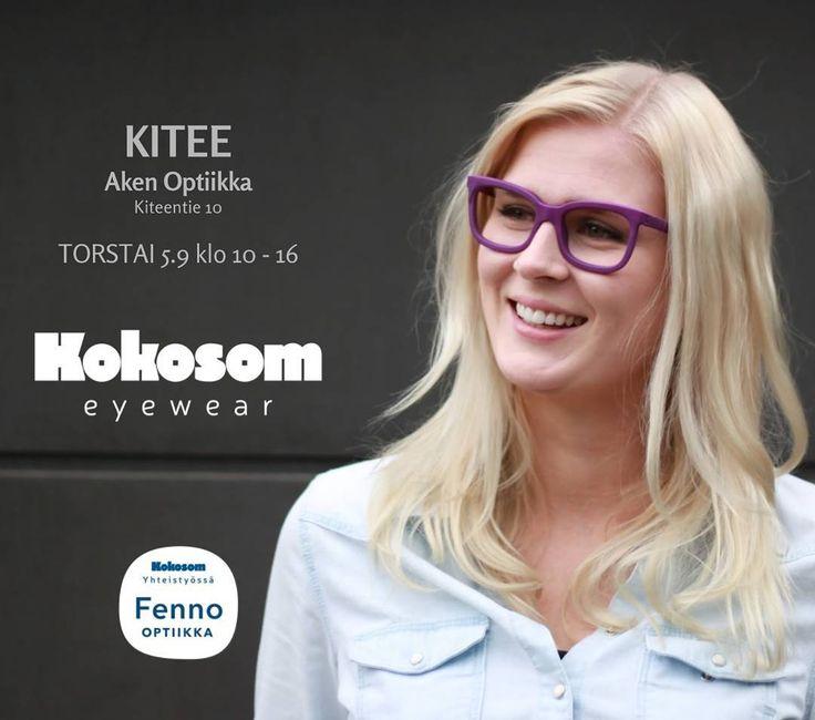 Next stop: Kitee! Kokosom Eyewear esittelyssä Aken Optiikassa torstaina 14.9 kello 10-16. Nähdään siellä! #kitee #kokosom #eyewearlush