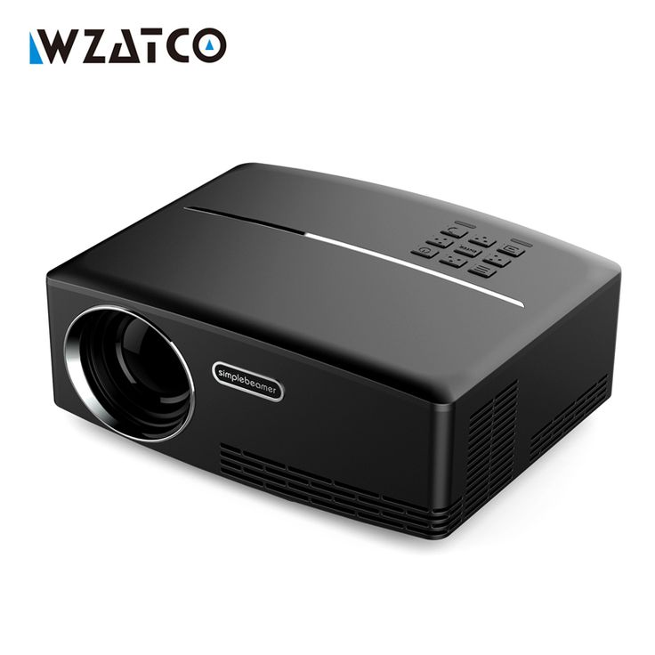 WZATCO GP80 Home Theater Portable Projector HDMI USB 1080P HD Cinema Mini LCD LED PC Video Beamer 2017 Proyector Best price  #Affiliate