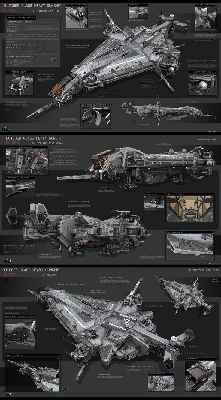Butcher Class Heavy Gunship by KaranaK.deviantart.com on @DeviantArt