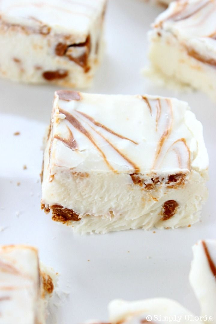 Easy And Divine Cinnamon Roll Fudge ! With Ribbons of sweet cinnamon swirling around creamy White Chocolate !