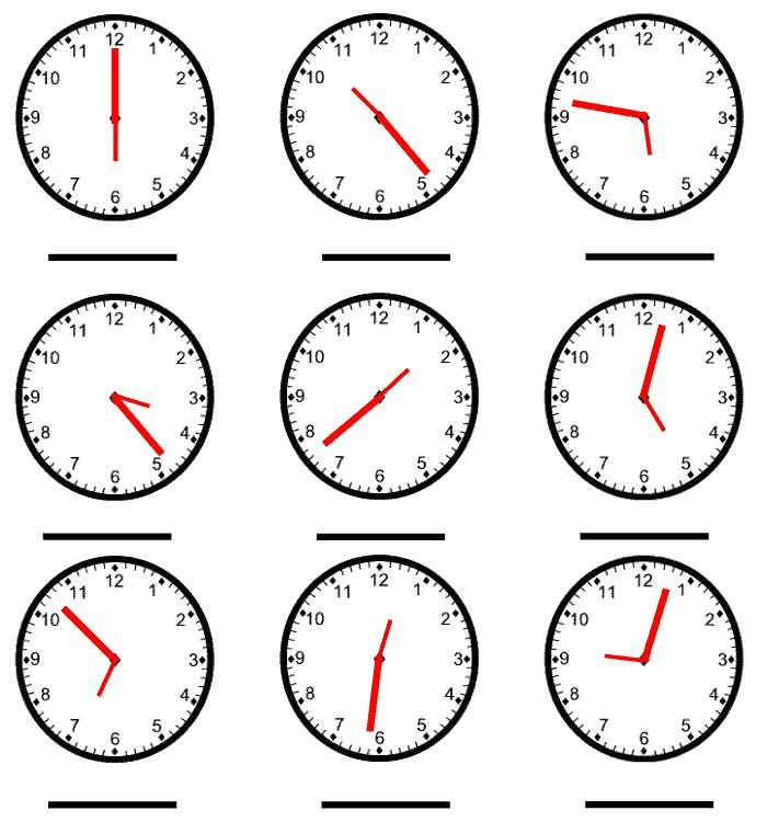 Telling Time Worksheet picture