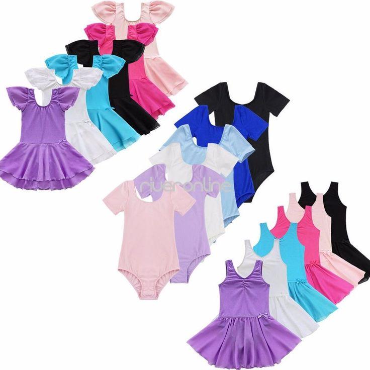 Girls Gymnastics Ballet Dress Toddler Kid Leotard Tutu Skirt Dance wear Costume…