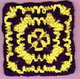 Wild Granny Square Crochet Square