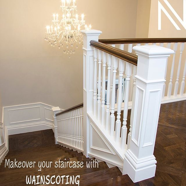 DIY TIPS: Makeover your staircase with Wainscoting Learn how to elevate your staircase to new heights... http://ow.ly/Vdi830egW7f