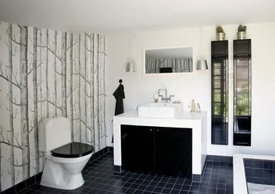 Un baño en blanco y negro muy minimalista   Decorar tu casa es facilisimo.com