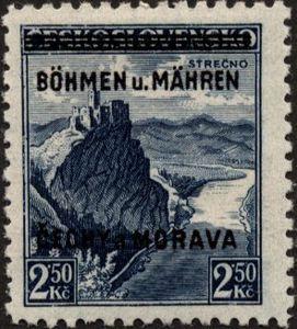 1939 Strečno with overprint